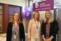 Från vänster; Malin Larsson Stenvall, Eva Wara - kontorsområdeschef i Region Norr och Harriet Rådahl
