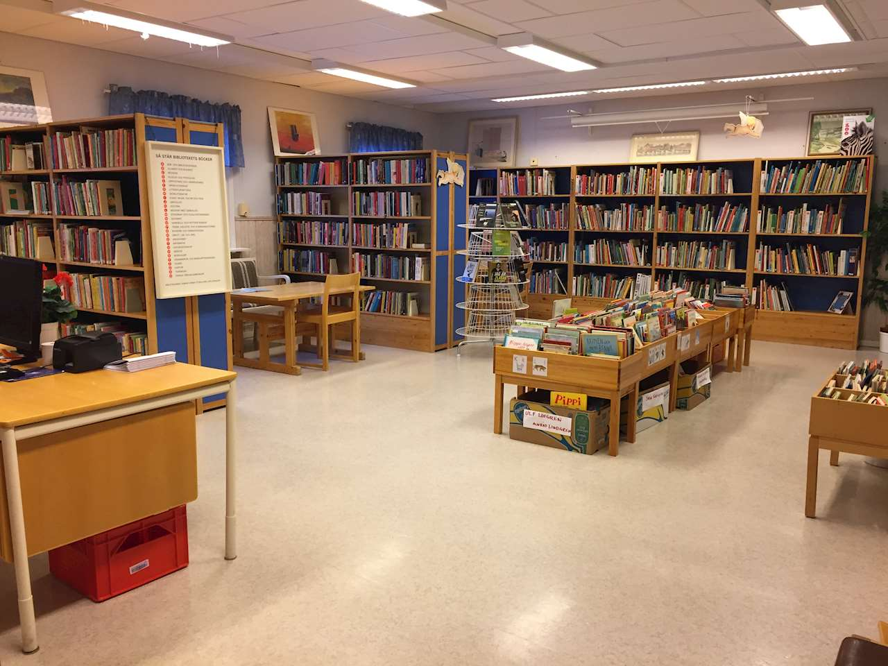 Inne i biblioteket
