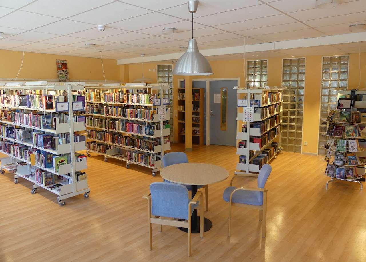 Insidan av biblioteket
