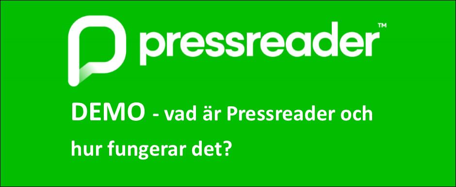 Demofilm på svenska om vad Pressreader är och hur det fungerar.