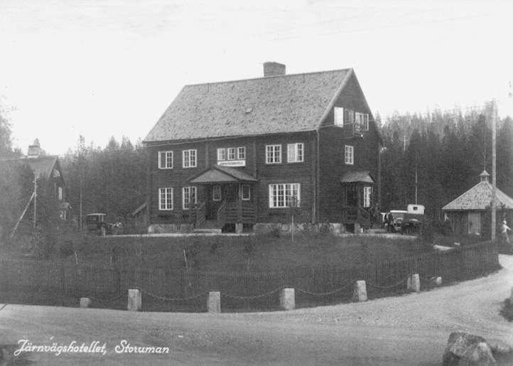 Järnvägshotellets exteriör från 1920-talet.